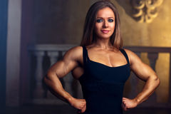 Young woman bodybuilder Royalty Free Stock Images