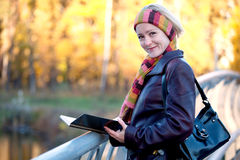 Young woman with book Stock Photography
