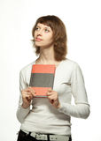 The young woman with a book Royalty Free Stock Images