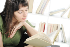 Young woman  with book Royalty Free Stock Image