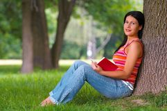 Woman in park Royalty Free Stock Image