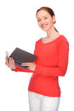 Young woman with books Stock Photo