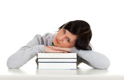 Young woman and books Stock Photos