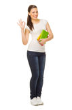 Young woman with books Stock Images