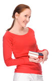 Young woman with books Stock Photos