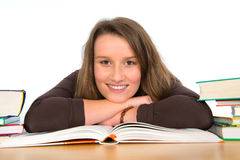 Young woman with books Stock Image