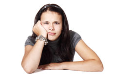 Young woman bored Royalty Free Stock Image