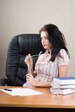 Young woman boss Royalty Free Stock Photos
