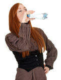 Young woman with bottle of water Stock Photos