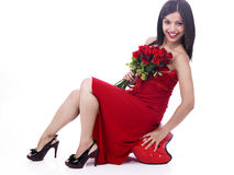 Young woman with a bouquet Royalty Free Stock Images