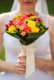 Young woman with bouquet Stock Photos