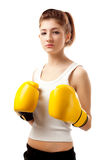 Young woman boxer Stock Photography
