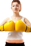 Young woman boxer Stock Photo