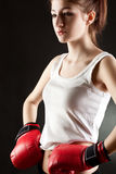 Young woman boxer Royalty Free Stock Photography
