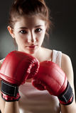 Young woman boxer Royalty Free Stock Photos