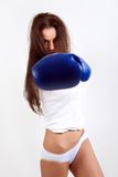 A young woman boxer. Royalty Free Stock Photos