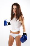 A young woman boxer. Stock Photography