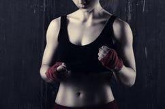 Young woman boxer Royalty Free Stock Photos