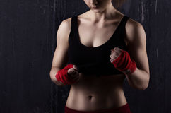 Young woman boxer Royalty Free Stock Photo