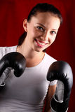 Young woman boxing Stock Image