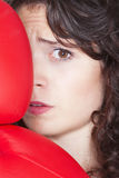 Young woman with boxing gloves Stock Images