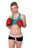 Young Woman With Boxing Gloves Royalty Free Stock Photo
