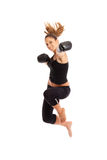 Young woman boxing Royalty Free Stock Photos