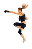 Young woman boxing Stock Photos