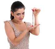 Young woman with bracelet Stock Photos