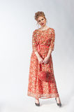 Young woman in bright dress Royalty Free Stock Photo
