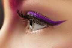 Young woman with bright makeup,. Closeup royalty free stock photos