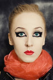 Young woman with bright makeup closeup Royalty Free Stock Photography