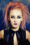 Young woman with bright makeup closeup Stock Photo