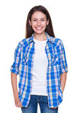 Young woman with bright smile Stock Photo