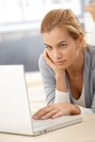 Young woman browsing Internet Stock Photography