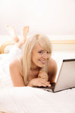 Young woman browsing internet Stock Image