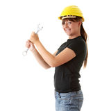 Young woman builder Stock Photos