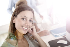 Young woman in business apprenticeship Stock Photography