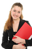 Young woman in business attire holding a planner Stock Photography