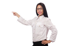 Young woman in business concept Stock Photo