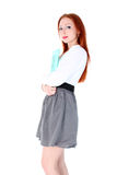 Young woman in business outfit Royalty Free Stock Photo