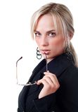 Young woman in business suit Stock Image