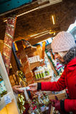 Young Woman Buying Presents. Royalty Free Stock Photos
