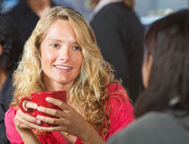 Young Woman in Cafe Stock Images