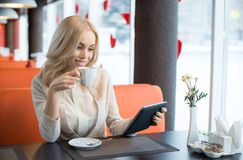 Young woman in Cafe royalty free stock photo