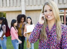 Young Woman On Call Stock Photos