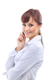 Young woman calling Royalty Free Stock Photos