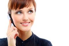 Young woman calling Stock Photos