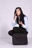 Young woman calling Stock Images