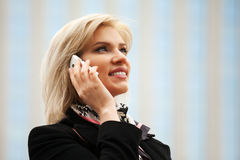 Young fashion woman calling on the mobile phone Royalty Free Stock Photo